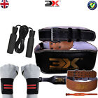 """Weight Lifting Gym Belt Skipping Jump Rope Strap Back Power Workout 4"""" 3X Sports"""