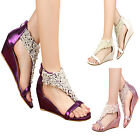 Women's Ankle Strappy Across Gorgeous With Pearls Peep Toes Wedding Sandals