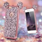 Bling Glitter Soft TPU Case Cute Mickey Ear Back Cover For iPhone X 6s 7 8 Plus