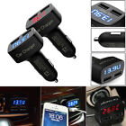 1pc 4in1 Dual USB Car Charger Adapter Voltage DC5V/3.1A Tester For iPhone Tablet
