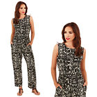 Pistachio Womens Patterned Jumpsuit Ladies Sleeveless Aztec Summer Playsuit