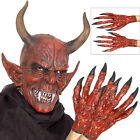 Smiffys Devil Demon Mask Or Hands Fancy Dress Halloween Costume Accessories