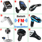 in car bluetooth handsfree - In-Car Bluetooth FM Transmitter Hands-free Calling Wireless Audio Receiver