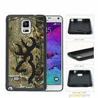 Camouflage Camo 1 Black Deer Head - Galaxy Note 2 3 4 5 Case Cover
