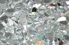 Sew On Teardrop Faceted Beads Acrylic Rhinestones Gems 15x25mm Flat Back