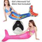 HOT! High Quality Kids Lycra Bionic Mermaid Tail with Flipper Swimming Monofin