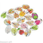 Lots  Mixed Oval Glass Embellishments Flatback Scrapbooking Crafts Life Tree