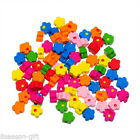 Wholesale Lots New Charm Wood Beads Mixed Flower Pattern Loose 9.6mm x9.8mm