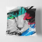 Faux Suede Throw Scatter Cushion Cat Eyes (12) V2