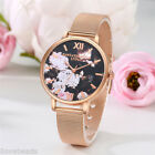 Women Lady Fashion Dial Net Strap Quartz Alloy Wrist Watch Casual Dress Watch