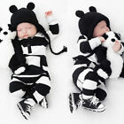 Внешний вид - US Newborn Baby Boy Girls Striped Cotton Romper Jumpsuit Bodysuit Outfit Clothes