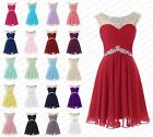 Knee Length Evening Prom Party Dress Bridesmaid Dresses Ball Gown Cocktail 6-18