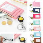 Business Credit ID Badge Card Holder Coin Purse Retractable Reel Keychain Gift