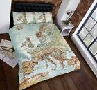VINTAGE MAP Duvet Cover. Single, Double and King Size.