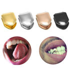 Custom Gold Plated Hip Hop Teeth Grillz Caps Top Bottom Grill Fang Set HOT!!