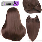 Thick One Piece Human Hair Extensions Invisible Secret HiddenWire Flip On 100g