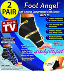 2 Pair Foot Angel Compression Sleeves for Plantar Fasciitis, Tired & Aching Feet