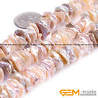 Natural Freshwater Baroque Reborn Keshi Biwa Pearl Beads For Jewelry Making 15""