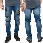 Loyalty & Faith Mens Casual Distressed Slim Fit Stretch Jeans Ripped Torn Denim