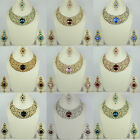 Party wedding indian fashion jewellery color matching necklace set earring women