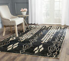 Safavieh Bohemian Hand Knotted BLACK / BEIGE Jute Area Rug - BOH664A