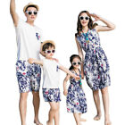 2017 Summer family clothing Mother Daughter dresses Floral dress father son Sets