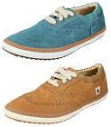 CATERPILLAR LADIES LACE UP WIDE CASUAL SHOES LEATHER BROGUE TRAINERS TIME BANK