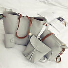 Women's Retro Tassel Bucket Shoulder Handbags Ladies Faux Leather Tote Bags 4pcs New with tags