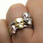 Skull Ring  Stacker Ring  9ct Gold Yellow, White, or Rose Hand Crafted