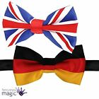 Deluxe Great Britain Union Jack German American Welsh World Cup Formal Bow Tie