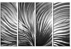 "silver grey white abstract canvas picture 4panel split wall art 60""& 40"" options"