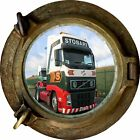 Huge 3D Porthole Eddie Stobart Truck View Wall Stickers Mural Art Decal Wallpape