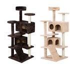 """52"""" Multicolor Cat Tree Tower Condo Furniture Scratch Post Kitty Pet House Play"""
