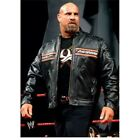 WWE Bill Goldberg HD Biker Vintage Motorcycle Black Leather Jacket