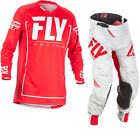 Fly Racing 2018 Lite Hydrogen Motocross Jersey & Pants Red Grey Kit GhostBikes
