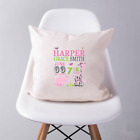 Personalised New Arrival Newborn Baby Girl Pillow Cushion Perfect Keepsake