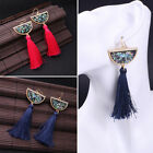 Vintage Women Boho Drop Crystal Stone Earrings Ethnic Statement Tassel Earrings