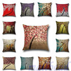 "18"" Linen Cotton Floral Throw Pillow Case Cushion Cover Home Sofa Xmas Decor"