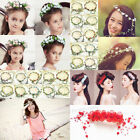 Girl Boho Headband Garland Wreath Head Flowers Bride Wedding Supply Party Decor