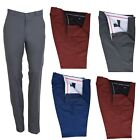 Classic Men's Retro Vintage Sta Press Trousers 60s 70s Slim Fit Tonic Two Tone