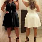 Plus Size Womens Sleeveless Bodycon Party Evening Prom Cocktail Short Mini Dress