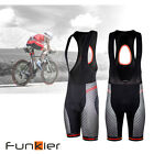 Funkier Men's Pro Cycling BIB Short Padded S-9791 E8 Pad New