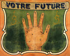 POSTER VOTRE FUTURE YOUR FUTURE IN YOUR HANDS VINTAGE REPRO FREE S/H