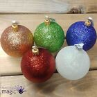 Gisela Graham Glitter Hanging Christmas Xmas Tree Decoration Ornament Bauble 7cm