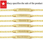 18K Gold Filled Baby Bracelet With Engraving 6 inches Baby Bracelet with Name