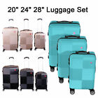 Kyпить Set of 3 Premium Luggage Set ABS Trolley Suitcase 360° Spinner Wheels Lock на еВаy.соm