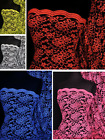 Premium Quality Lace Scalloped Lycra 4 Way Stretch Fabric Q1170