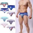 Men New Ploral Print Fashion Sexy Boxer Brief Underwear Home Casual Low-waist C8