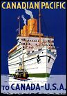 Canadian Pacific Empress Of Britain Vintage Travel Poster Reproduction