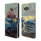 OFFICIAL LONELY DOG SUMMER LEATHER BOOK WALLET CASE COVER FOR SAMSUNG PHONES 2